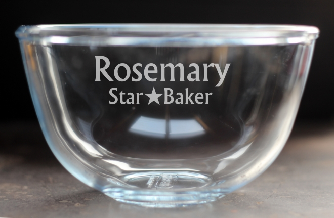 personalised pyrex bowl
